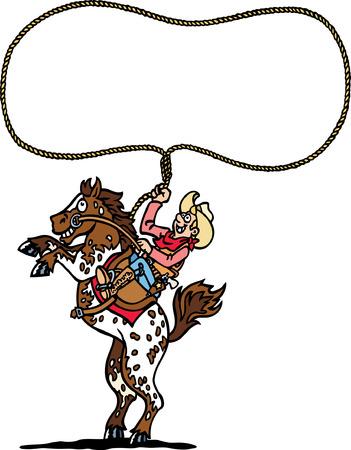 Cowboy s Lasso Stock Vector - 24304696
