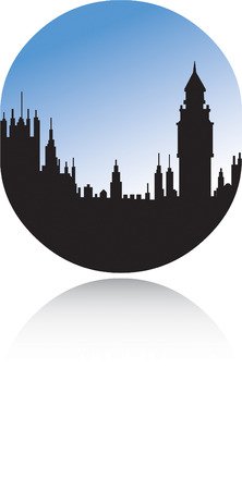 westminster abbey: City Silhouette