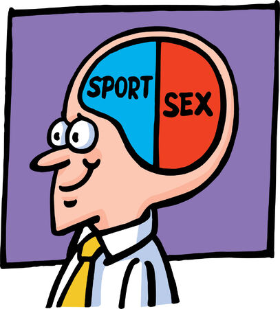 sexual activity: Brain Illustration
