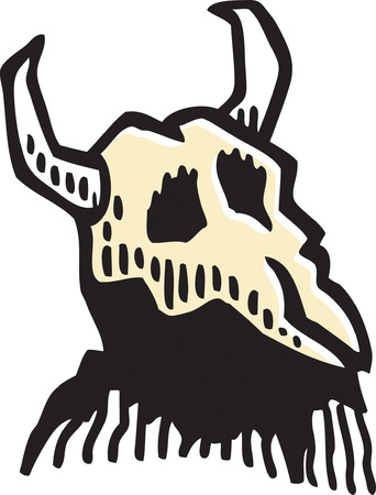 Cattle Skull Vector