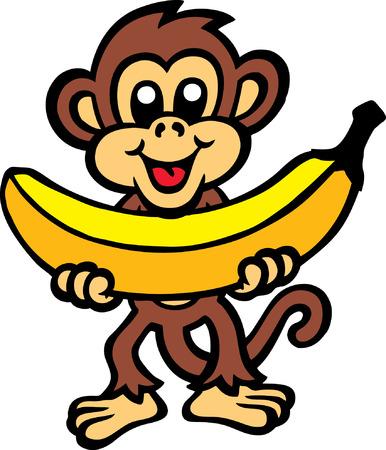 platano caricatura: Pl�tano del mono