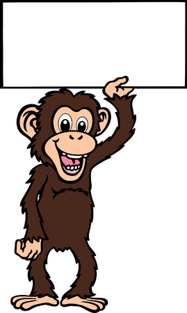 Ape with Sign Stock Vector - 24304774