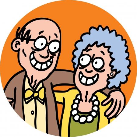 Grootouders Stock Illustratie