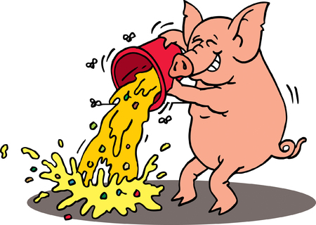 Messy Pig Vector