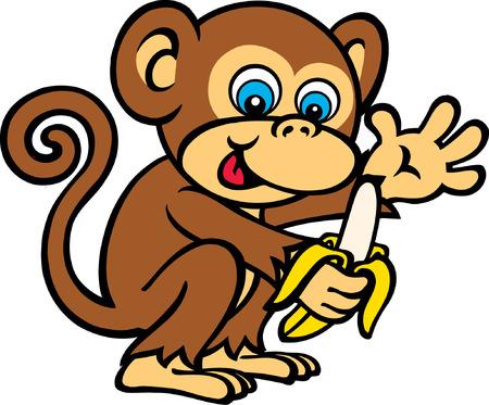 원숭이 먹는 바나나