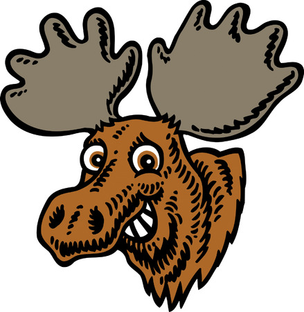 Moose Head Stock Vector - 24305022
