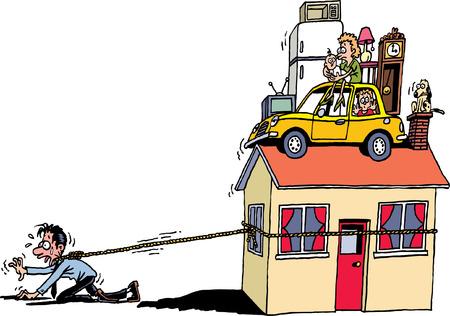 빚: 주택 차입금 일러스트