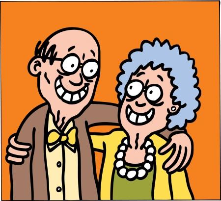 hombres maduros: Abuelos Vectores