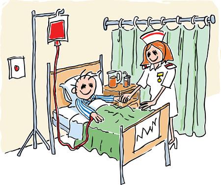 im bett liegen: Krankenhaus
