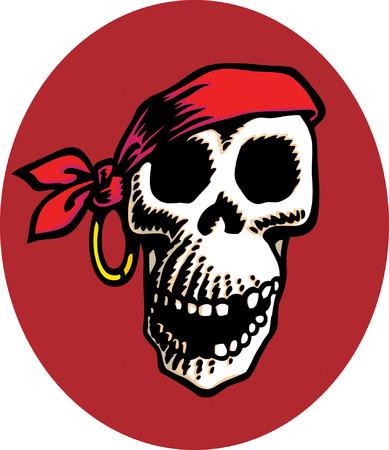 Monkey Skull Vector