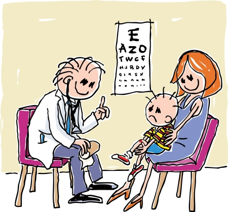 Eye Check Vector
