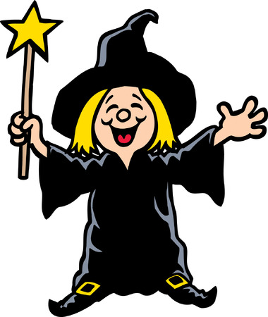 Girl Witch Vector