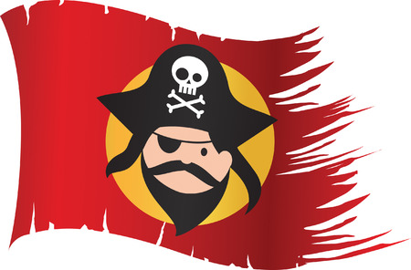 Pirate Flag Stock Vector - 24496829