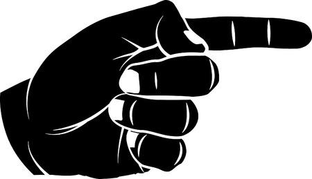 finger pointing: Finger Pointing Illustration