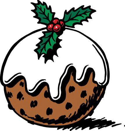 Christmas Pudding Stock Vector - 24464924