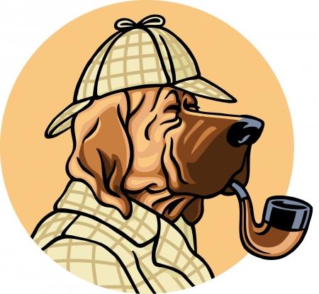 policia caricatura: Perro detective
