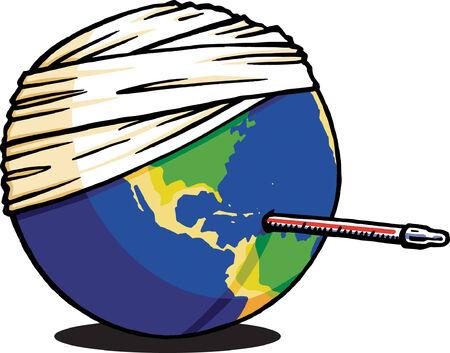 Sick Earth Vector