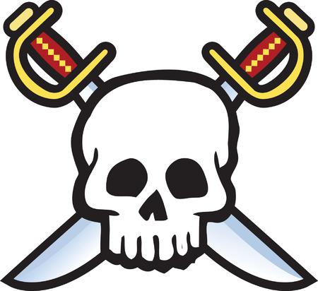 Skull and Swords Illustration