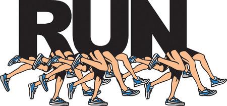 fitness training: Lopen Stock Illustratie