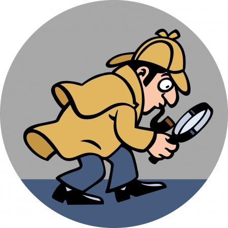 policia caricatura: Detective Vectores