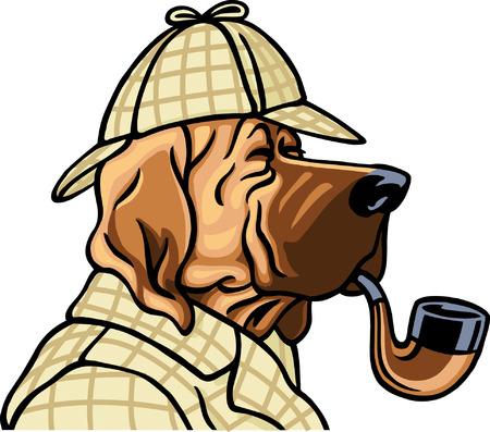 Detective Dog Фото со стока - 24465401