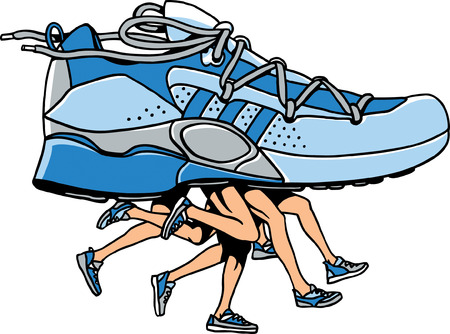 many people: Zapatillas deportivas
