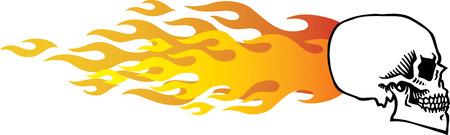 Flaming Skull Stock Vector - 24465491