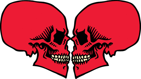 Skull Love Stock Vector - 24465497