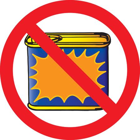 preservative: No canned food Illustration