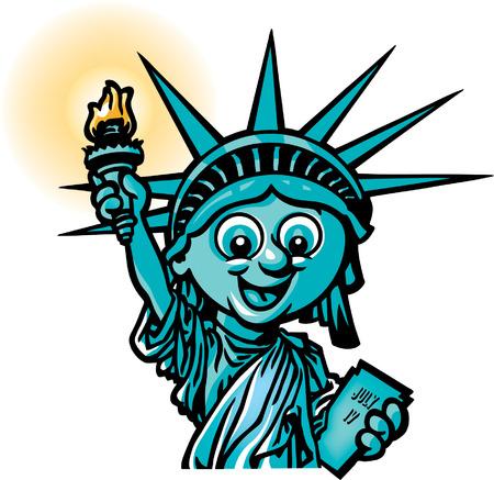 liberty statue: Statue of Liberty Illustration