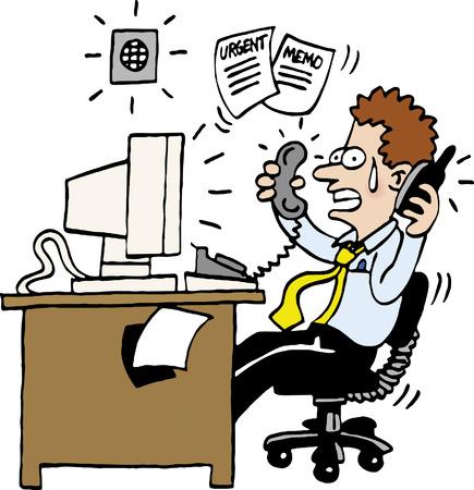 busy person: Destac� Man