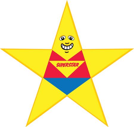 super star: Super Star Illustration