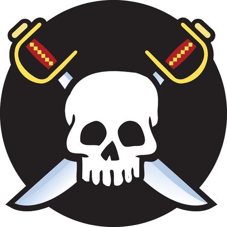 Skull Flag Illustration