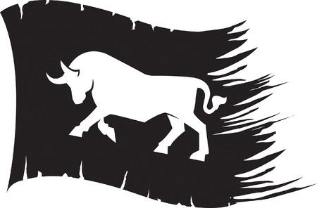 Bull Flag Vector