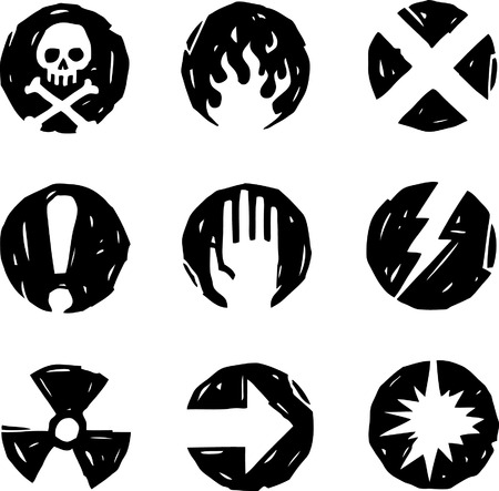 Danger Icons Stock Vector - 24465829