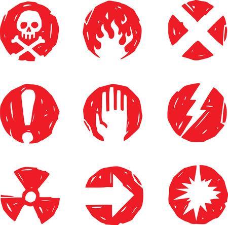 Danger Icons Stock Vector - 24465834