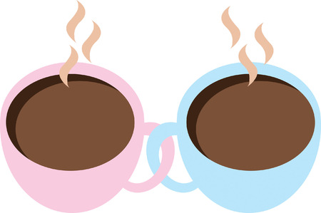 coffees: Love Coffees Illustration