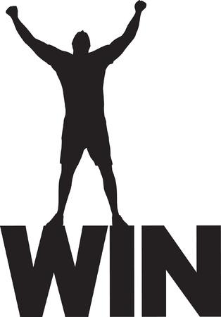 conquering adversity: Win Icono Vectores