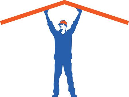protest man: Construction Man