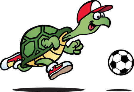 footballs: Playful Turtle