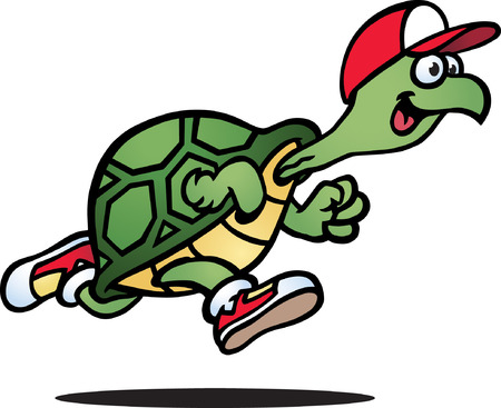 slow motion: Running Turtle Illustration