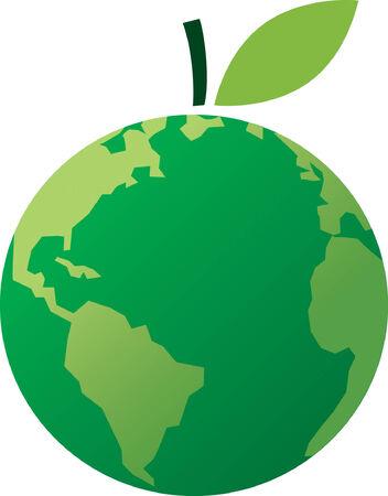 granny smith apple: Apple World Illustration