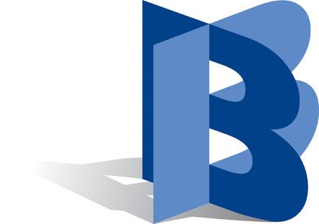 letter b: Icon Illustration