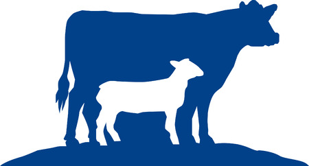 stylized design: Cow