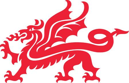 cabeza de dragon: Drag�n Vectores