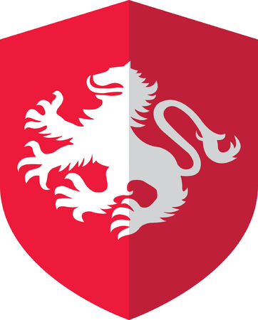 Lion Shield Vector