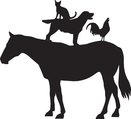 veterinarian symbol: Animali da fattoria Vettoriali