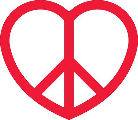 symbol peace: Coraz�n de la paz Vectores
