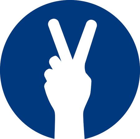 Signo de la paz Foto de archivo - 24748375