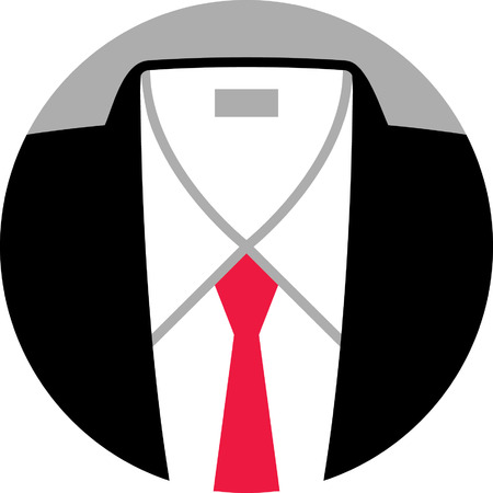 button down shirt: Suit and Tie Illustration